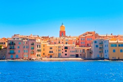 Saint Tropez Village in french riviera, France