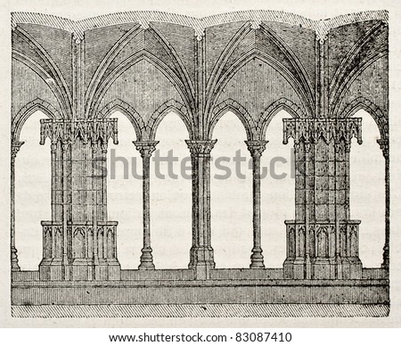 saint trophime church cloister detail arles france by unidentified author published on. Black Bedroom Furniture Sets. Home Design Ideas