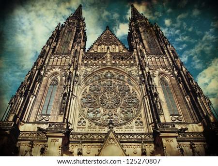 saint vitus cathedral in prague ...