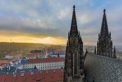 Saint Vitus cathedral in Prague - Czech Republic - architecture background