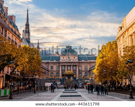 Sainte Chapelle Cathedral Palace of Justice Paris France.