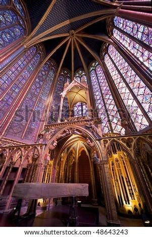 Sainte Chapelle church, Paris - Upper Chapel's interior