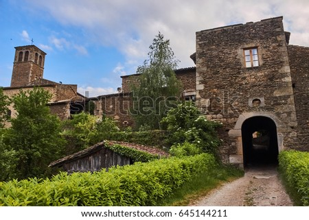 Sainte Croix En Jarez medieval village in France.
