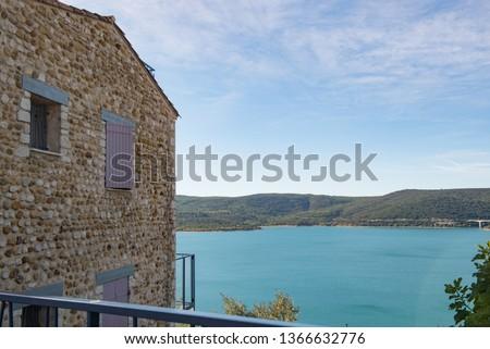 Sainte Croix of Verdon lake, provence, France. Taken from de village of Sainte Croix du Verdon
