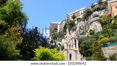 Sainte Devote and environment in Monaco, Monte Carlo - stock photo
