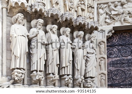 Saints of Notre Dame de Paris