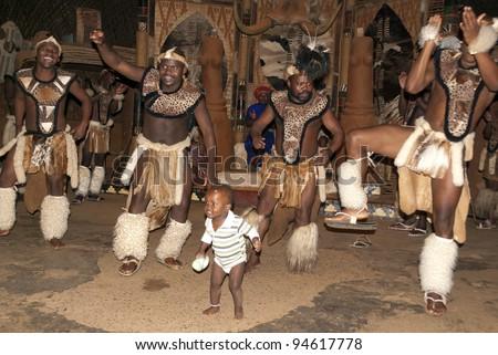 NOVEMBER 27 : Unidentified Zulu dancers wear traditional Zulu clothing ...