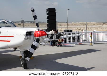 SAKHIR AIRBASE, BAHRAIN - JANUARY 21: Static display of T67 Firefly, Royal Bahraini Airforce in Bahrain International Airshow at Sakhir Airbase, Bahrain on 21 January, 2012