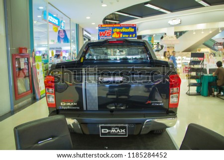 Sakon Nakhon,Thailand,September 21,2018 : ISUZU Motor,Isuzu DMAX X-Series ,Imported from Japan. With its distinctive and unique, it is the most popular and popular pickup truck in Thailand.at Robinson #1185284452