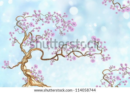 Sakura tree in spring