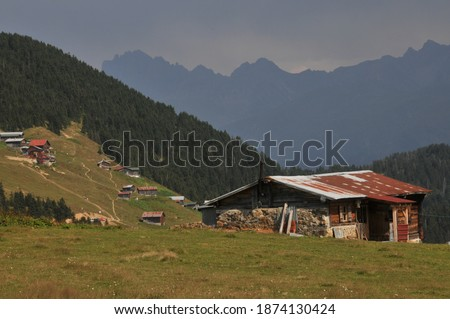 Sal Plateau in Rize in Camlihemsin, Sal highland in the Black Sea and Turkey Zdjęcia stock ©