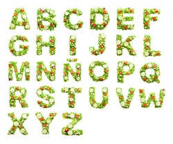 salad alphabet
