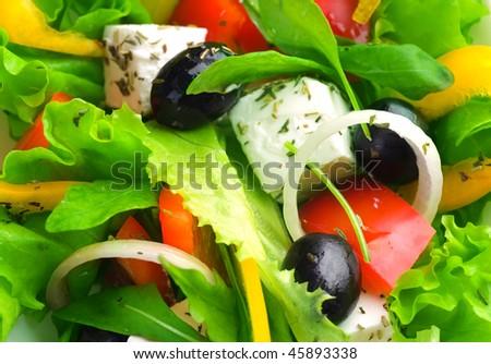 Salad Background - stock photo