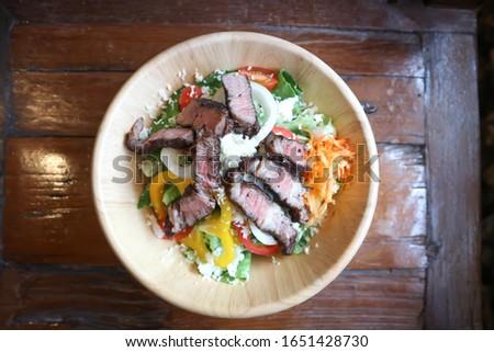 salad , beef salad or grilled beef salad