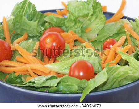 Salad bowl closeup