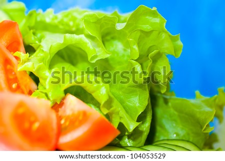 Salad closeup