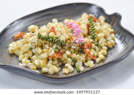 salad, corn salad or spicy corn salad