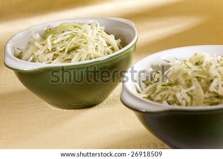 salad made from white cabbage