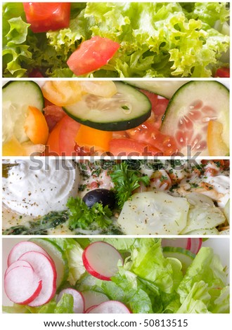 salad mix banners