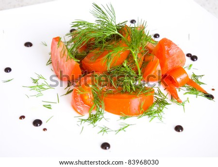 salad of tomatoes and dill