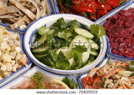 Salad of vegetable.