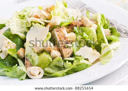 Salad with Chicken and Parmesan