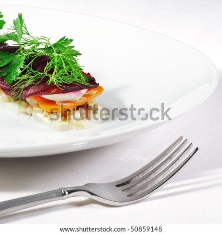 Salad with Herring and Vegetables