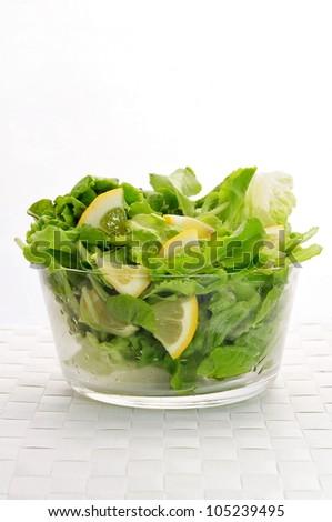 Salad with lemon
