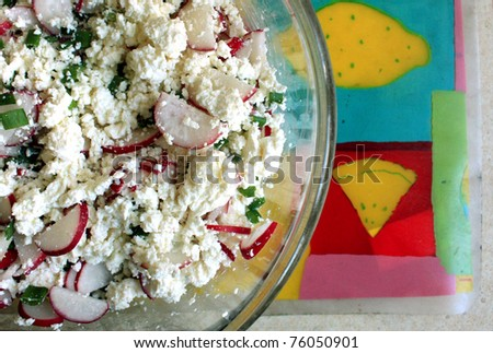 Salad with radishes