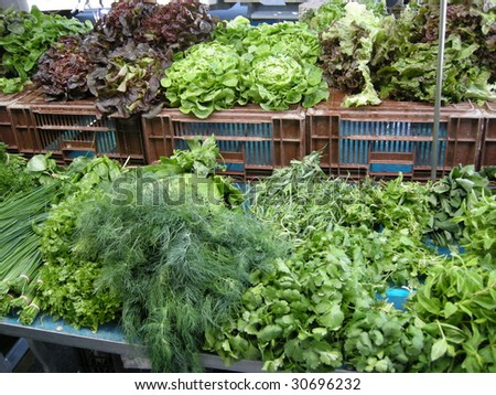 salads and aromatic herbs