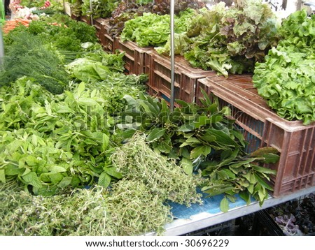 salads and aromatic herbs am market