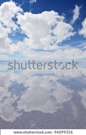 Salar de Uyuni, Salt flat in Bolivia - stock photo
