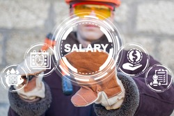 Salary Industry Work Cash Incentive Concept. Regular payment of wages to industrial workers.
