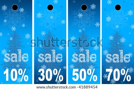 Sale abstract winter background