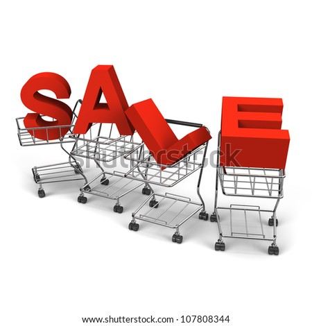 Sale Alphabet Was Carried By 4 Shopping Carts