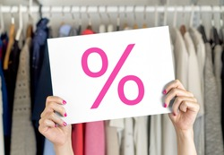 Sale, bargain and reduced cheap prices in clothes store