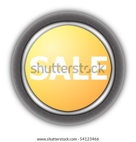 sale button isolated on a white background