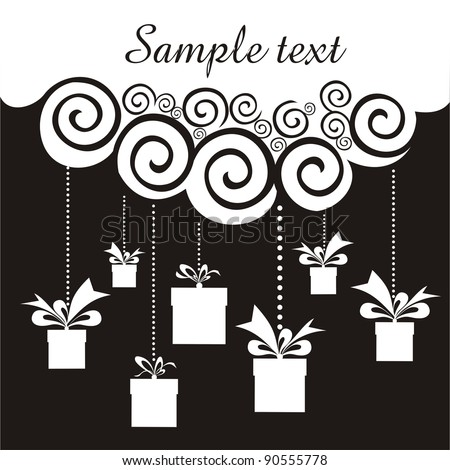 Sale discount celebration background with gift boxes and place for your text. illustration