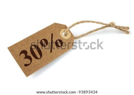 Sale label 30% - stock photo