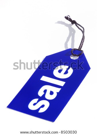 Sale label, blue,isolated