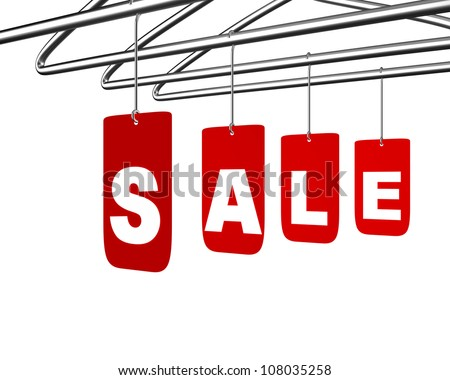 Sale message conceptual design isolated on white. Shopping discounts symbol concept
