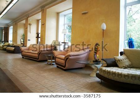 Sale of furniture in a modern furniture store