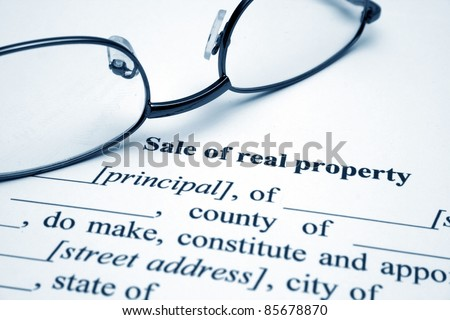 Sale of real property