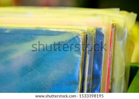 Sale of Vinyl disc records in a mexican market named El Chopo #1533398195