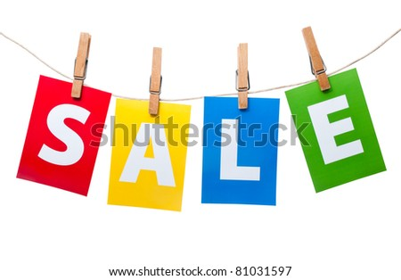 Sale price tag on line