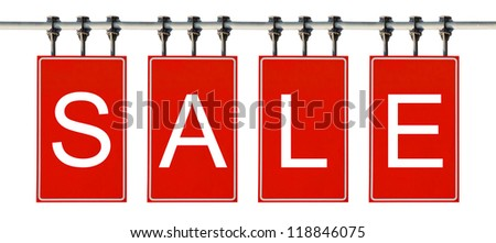 Sale sign. Isolated on white background. - stock photo