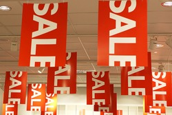 Sale signs Sale signs  - shopping concept