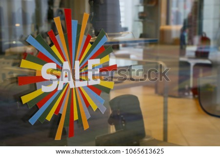 Sale signs - shopping concept #1065613625