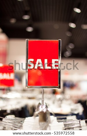 Sale signs  - shopping concept background