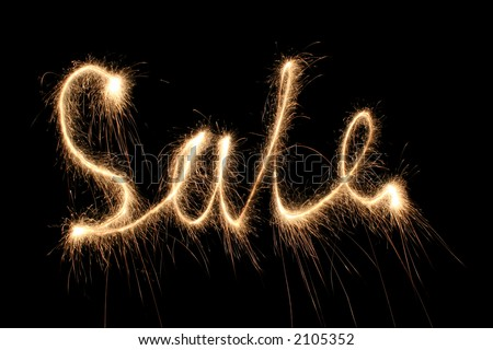 sale sparkler (you can see other words in my portfolio)